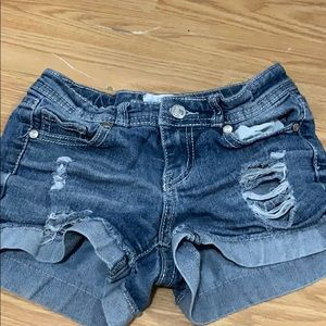 Other - blue denim shorts